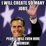 romney  hires women