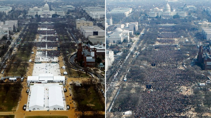 trump vs. obama inaugutation crowds