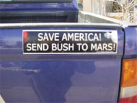 send bush to mars